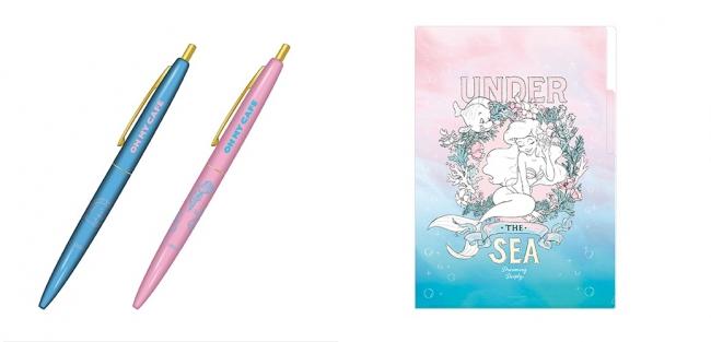BICボールペン 全2種、A4インデックスクリアファイル 全1種