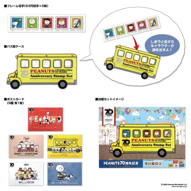 PEANUTS70周年記念 オリジナル フレーム切手セット 1,230円(税込)