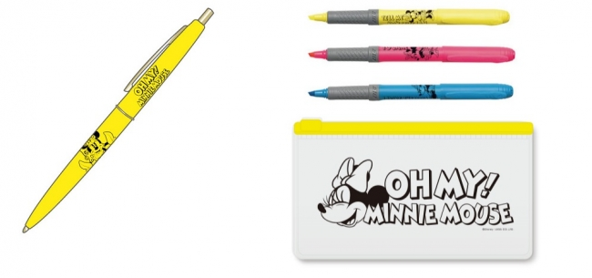 BICボールペン、蛍光ペンセット