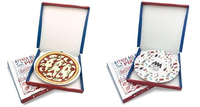 メラミンプレート(pizza ver.)、(イラストver.)