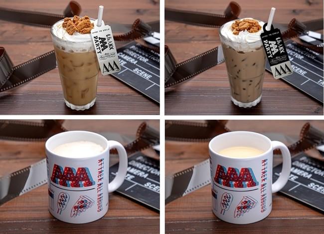 タルゴナ風ミルクティー、 タルゴナ風コーヒー、マグカップカフェラテ 、マグカップミルクティー