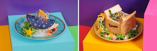 <ファインディング ニモ エイ先生>お友達たくさん♪トルティーヤサンド、<TOY STORY3>おもちゃ箱クリームシチューパン