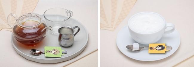 丹己のホット紅茶、紅葉のホットコーヒー