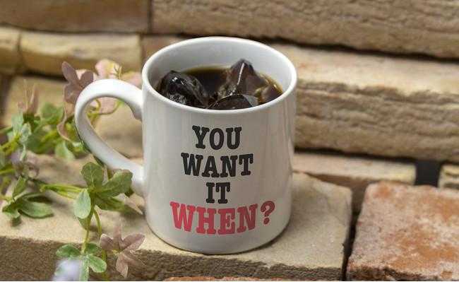 <フラッシュ>提供には時間がかかります!アイスコーヒー