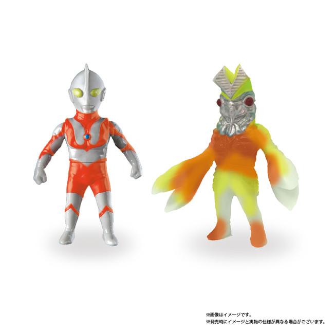 限定コラボ ソフビ人形(ウルトラマン、バルタン星人)