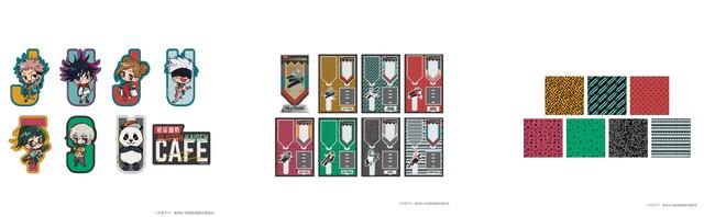ステッカーセット(8枚入り)、アクリルジオラマ(全7種)、タオルハンカチ(全7種)