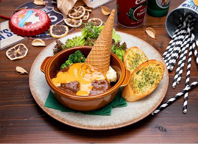 【ロックバイソン】 チーズハンバーグプレート
