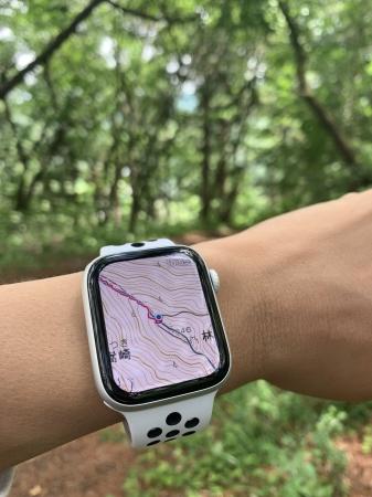 国内の登山地図アプリで初めてAppleWatchに対応!