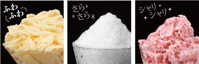製氷カップの氷を使用した場合のイメージ