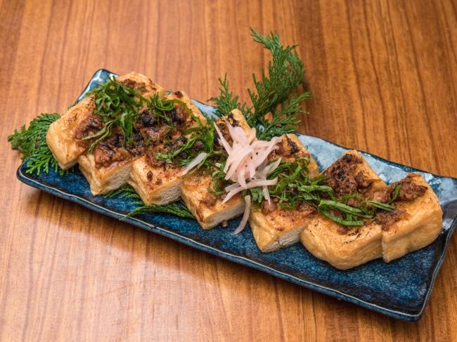 新生姜味噌の栃尾揚げ炙り 680円