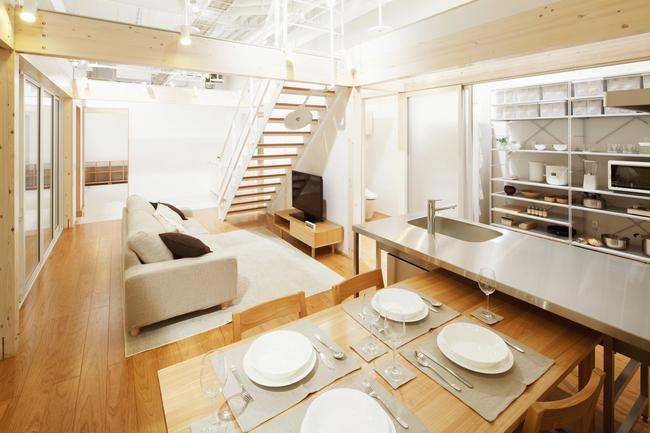 都市で快適に住むための「縦方向にスキップする家」を提案