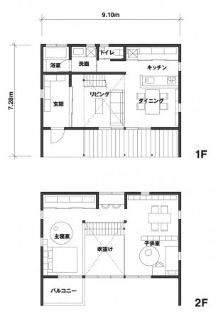 愛知県岡崎市、岡崎駅から車で10分程度の場所にある住宅地に建つ「窓の家」W邸。「小さなスペースでも、感じの良い庭をつくりたかった」と奥様が語るように、玄関の  ...