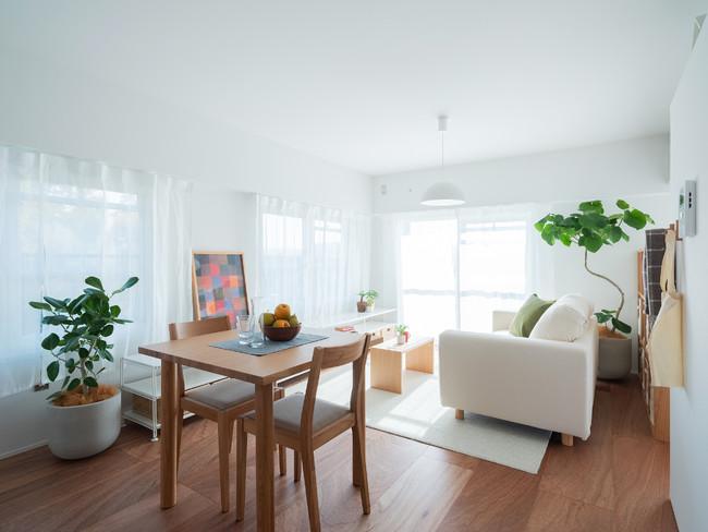温熱環境を改善した一室空間の自由な間取。