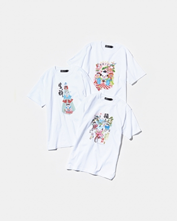 半袖Tシャツ 各¥4,500(税別)