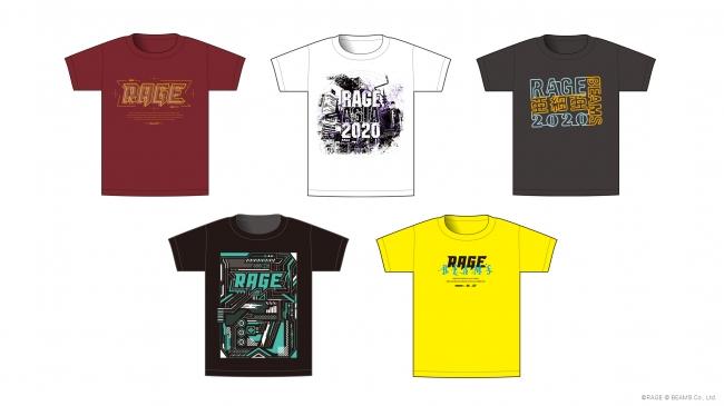 「RAGE ASIA 2020」のメイン会場「V-RAGE」内では、来場者のアバターが無料で好きなTシャツを着用できます。