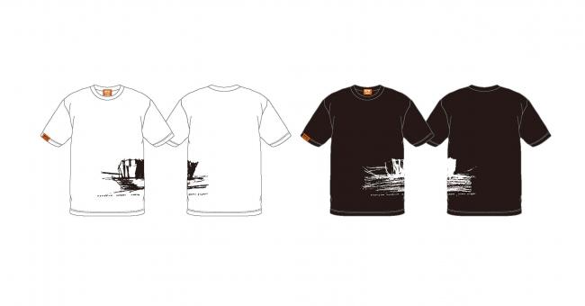 隈研吾展オリジナルTシャツ(ホワイト/ブラック) (S〜XLサイズ) 各¥3,800(税込)