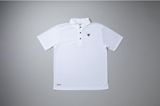 トヨタ自動車ヴェルブリッツ:ポロシャツ(白)はヴェルブリッツ限定販売(写真はサンプルであり、販売するものはボタンの仕様が異なります)
