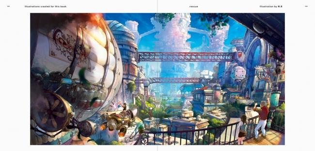 眺望絶佳な幻想世界を描く 大好評のイラストコレクション第2弾 美しい情景イラストレーション ファンタジー編 幻想的な風景を描くクリエイターズファイル 発売 株式会社パイ インターナショナルのプレスリリース