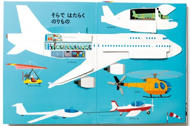 空のうえ:ヘリコプターやジェット機、  プロペラ機やグラーダー。  機体のなかを見てみよう。