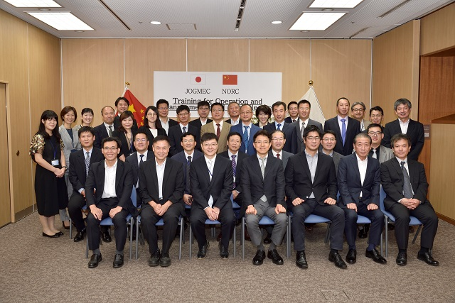 開講式 (駐日中華人民共和国大使館および経済産業省石油精製備蓄課ご出席)