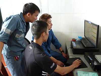 集中監視ソフト操作指導の状況