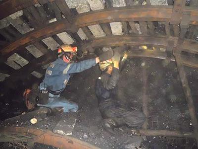 坑道維持技術指導の状況