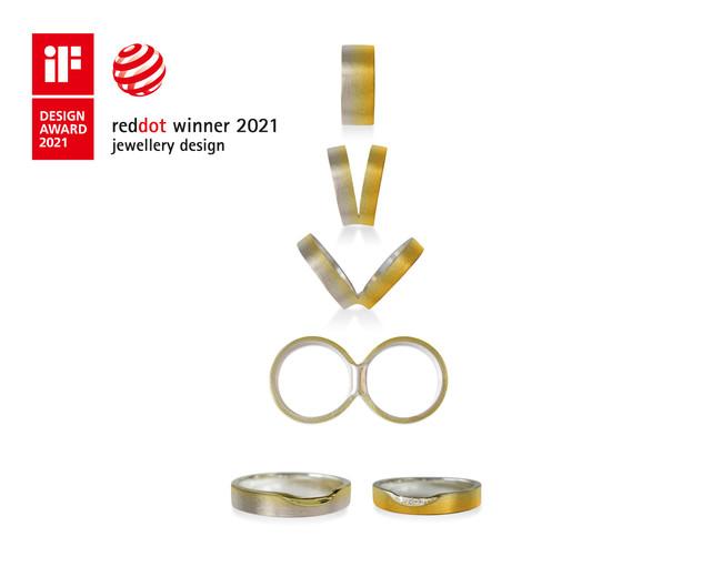 結婚指輪つながるカタチ ゴールドグラデーション