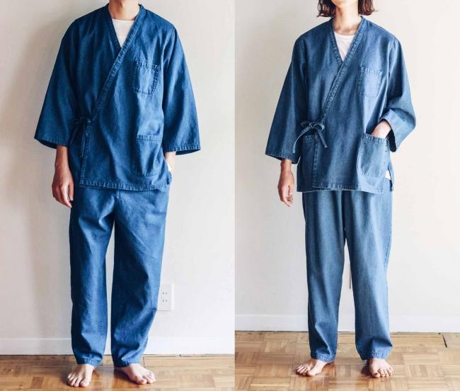 左:身長182cm、2サイズ着用、右:身長170cm、1サイズ着用