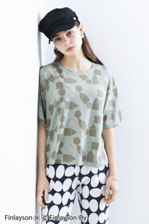 【NEW】フィンレイソン ボーイッシュシルエットのプリントTシャツ〈パレッティ〉