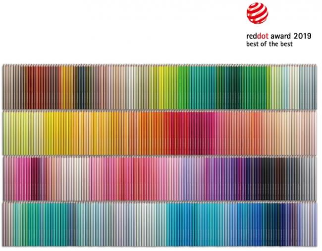 「500色の色えんぴつ TOKYO SEEDS」は、国際的なデザイン賞である「Red Dot Design Award 2019(レッドドット・デザイン賞)」のプロダクトデザイン部門で最優秀賞「best of the best(ベスト・オブ・ザ・ベスト)」