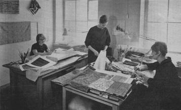 1950代の同社デザインスタジオ〉