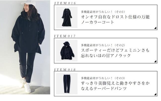 3アイテムとも同素材なので、コートとパンツ、アノラックパーカーとパンツなどセットで着まわしができます