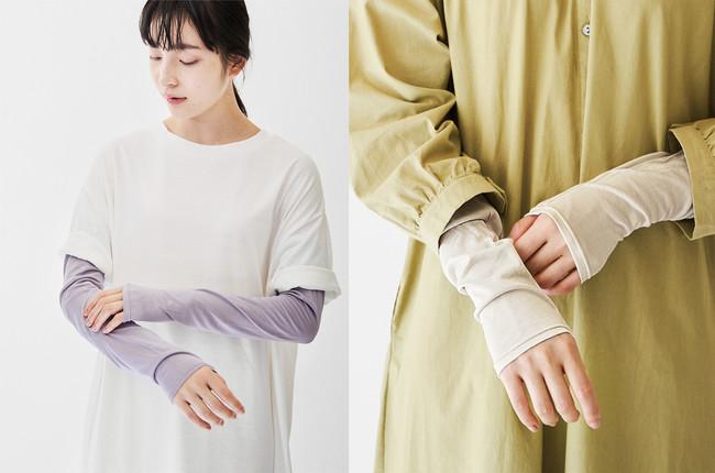 〈パープルグレー〉〈グレージュブラウン〉〈ミストホワイト〉のお洋服とも合わせやすいカラー展開。