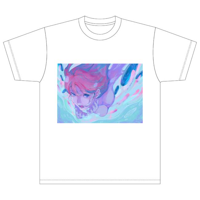 藍にいなさん描きおろしデザインTシャツ