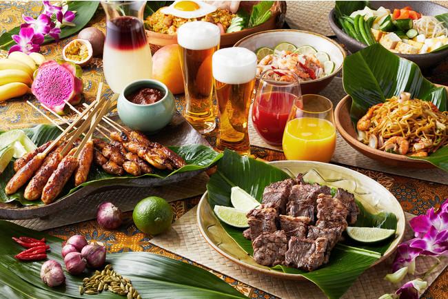 メインのBBQコーナーでは、ビーフのグリル バリスタイルソース、サテ アヤム (チキンの串焼き)など、ビールに合う料理をシェフが目の前で焼き上げる
