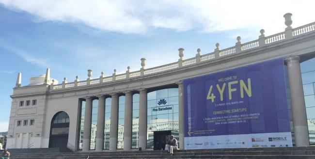 バルセロナ市内の4YFN会場(2017年・Fira Montjuic)
