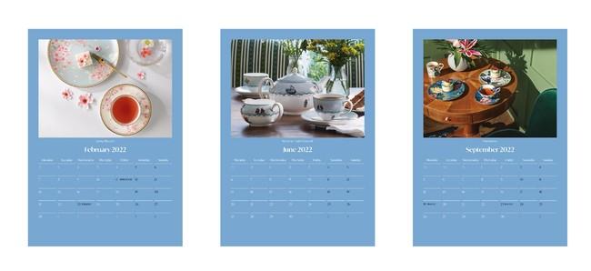 ウェッジウッドオリジナルカレンダー 2022 (非売品)イメージ