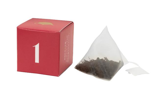 三角ティーバッグで茶葉がしっかりジャンピング。