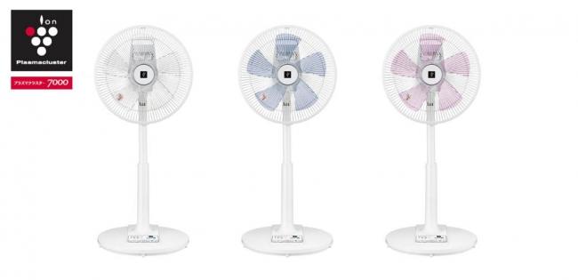 プラズマクラスター扇風機<リビングファン> (左から)<PJ-J3AS-WAP(ホワイト/ブルー/ピンク系)>