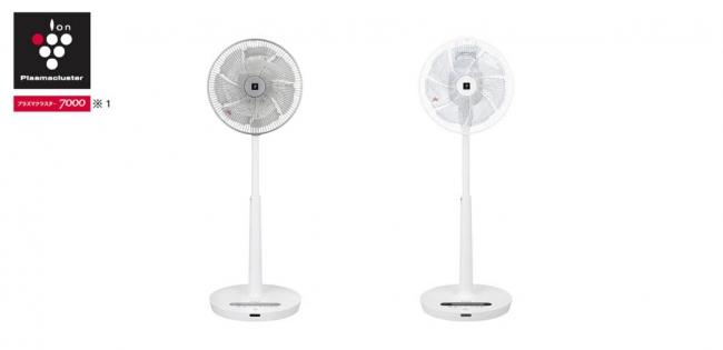 プラズマクラスター扇風機<ハイポジション・リビングファン><左:PJ-J3DG-W(ホワイト系)><右:PJ-J3DS-W(ホワイト系)>