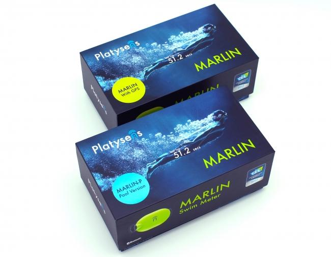 オープンウォーター対応のMarlin(イエローグリーン)と、プール専用モデルのMarlin-P(ブルー)