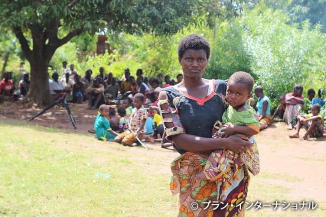 マラウィで避難生活を送るエビーさん