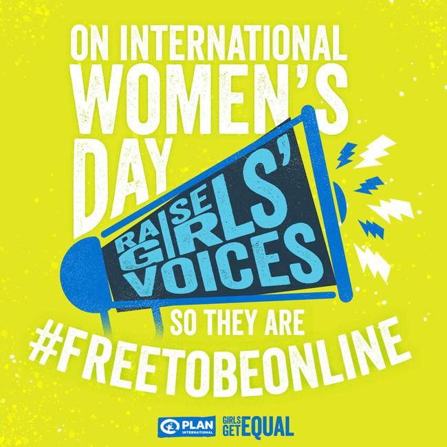 「女の子にオンライン上の自由を」国際女性デーに声をあげよう!
