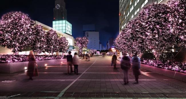 新宿サザンテラスエリア イルミネーション(イメージ)