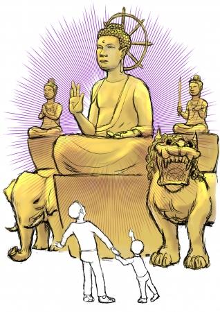 「釈迦三尊像」(イメージ)