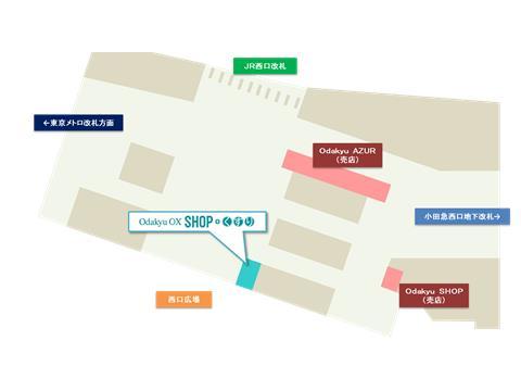 出店場所(新宿西口地下構内)