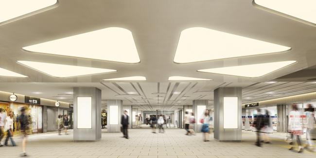 小田急マルシェ新宿 小田急新宿駅西口地下コンコース付近(イメージ)