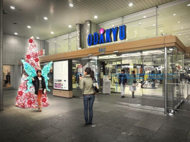 新宿西口ハルク 入口「フラワーツリー」(イメージ)