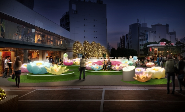 新宿サザンテラス広場「ビッグフラワーパーク」(イメージ)