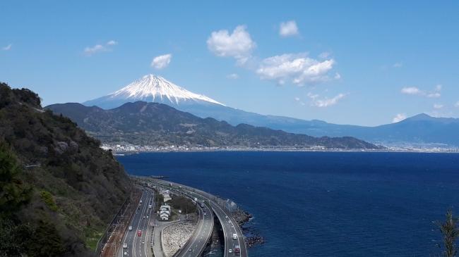 (コースの一例)「東海道の名所・薩埵峠、興津宿から由比宿へ」※イメージ